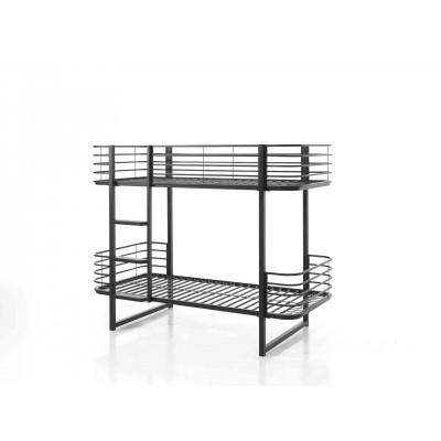 Dviaukštė lova Oscar, 90x200 cm, juoda
