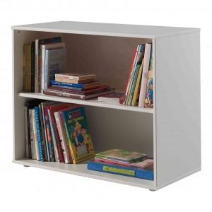 Knygų lentyna Pino, skirta pusaukštei lovai, balta