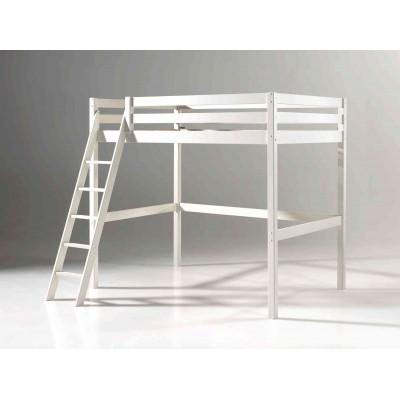 Palėpės tipo lova Pino, 140x200 cm, balta