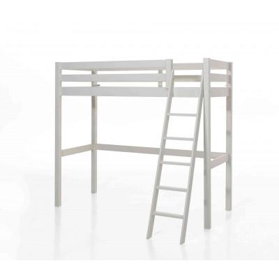 Palėpės tipo lova Pino, 90x200 cm, balta