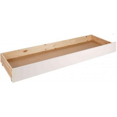 Stalčius po jūrinio stiliaus lova Pino, baltas