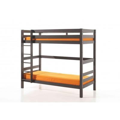 Dviaukštė lova Pino, rusvai pilka