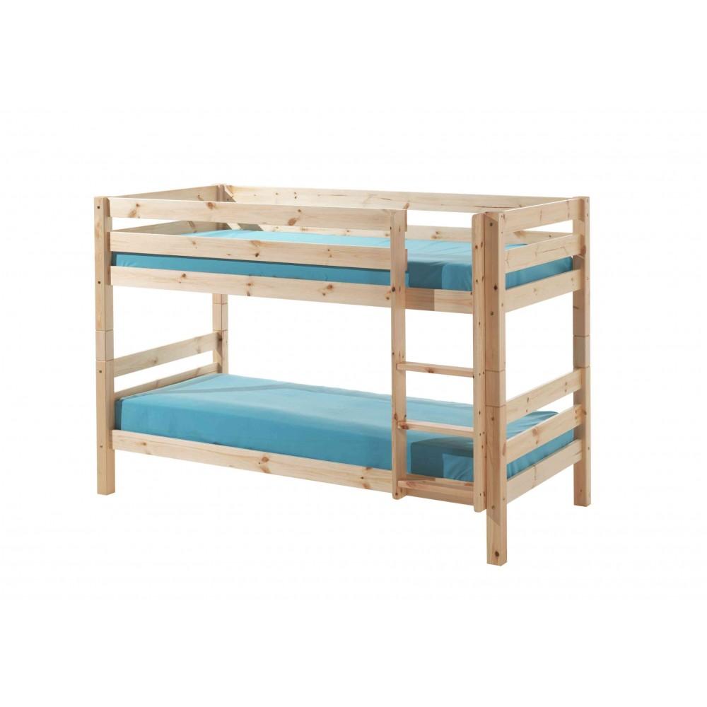 Dviaukštė lova Pino, natūrali