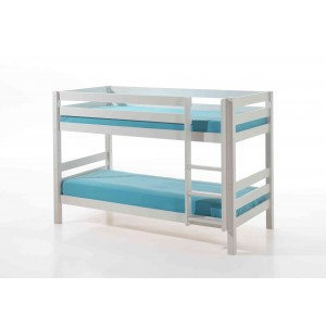 Dviaukštė lova Pino, balta
