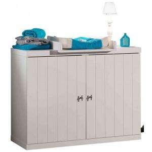 2 stalčių komoda Robin, balta
