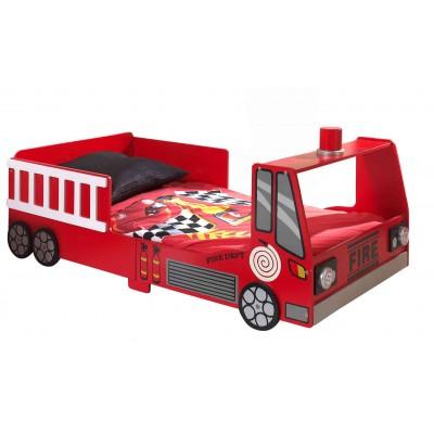 Vaikiška lova gaisrinė mašina, 70x140 cm