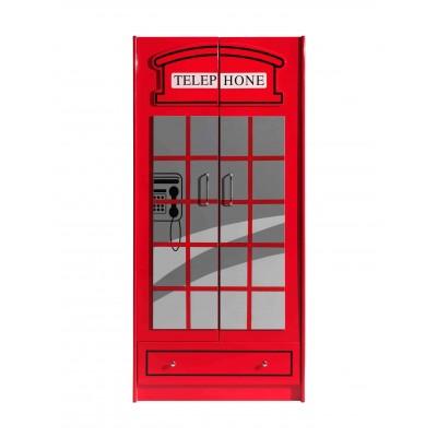Drabužių spinta Londono autobusas, 2 durų