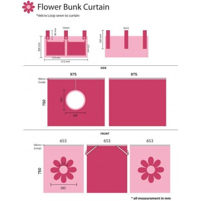 Užuolaida Pink flower